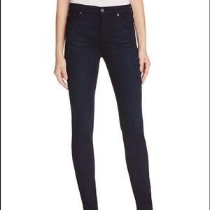 7 for Mankind black high waisted skinny jeans 28